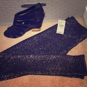 Glitter Black Leggings